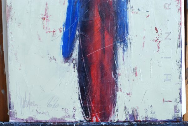 Thin Red Line original painting by Igor Shulman