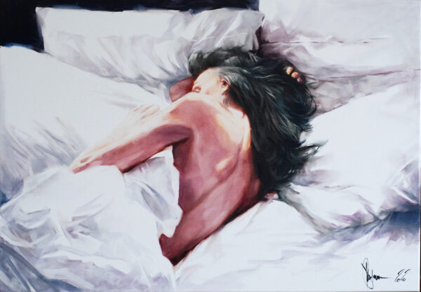 Cold bed original painting by Igor Shulman
