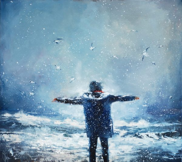 Winter prayer. (2021) Oil painting by Igor Shulman