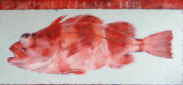 Oil Painting 1 Frozen Sea Bass by Igor Shulman