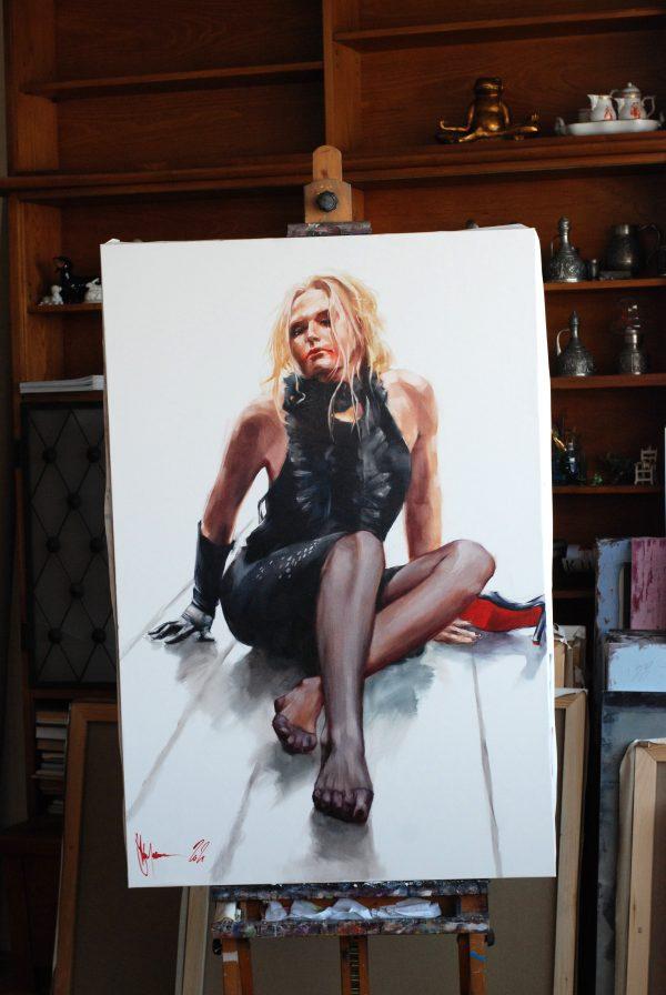 Painting Red Lipstick by Igor Shulman