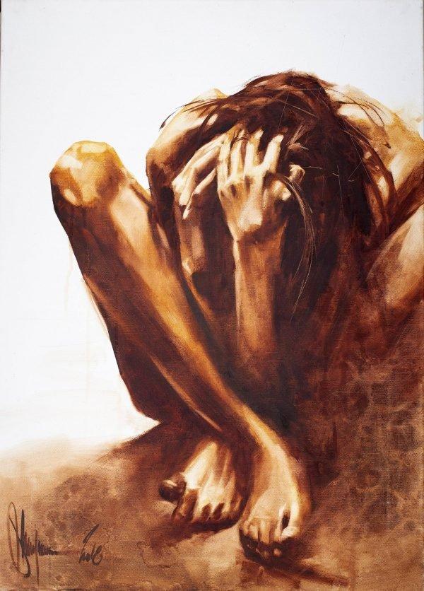 Beyond the Line of Despair Oil painting