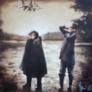 Temporary Collapse Oil Painting by Igor Shulman