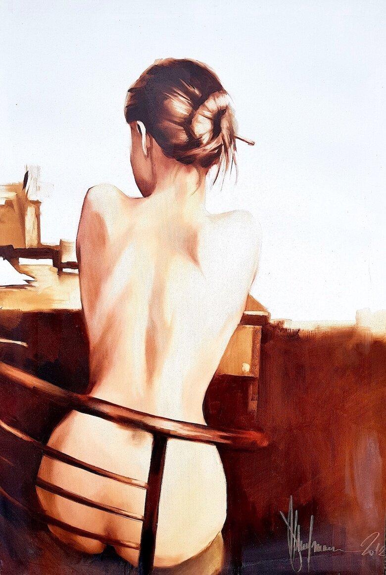 Sharlotte (2012) 38.5in x 26in / 98x66 cm. Acrylic. Location: Canterbury Auction Galleries, United Kingdom