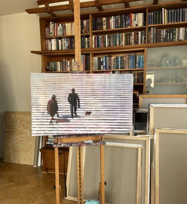 Oil Painting A Lifelong Road by Igor Shulman