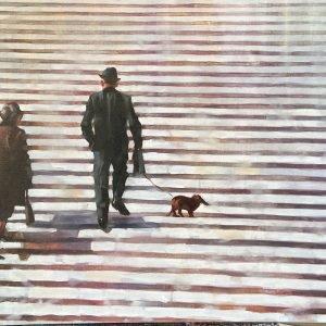 Original Oil Painting A Lifelong Road by Igor Shulman